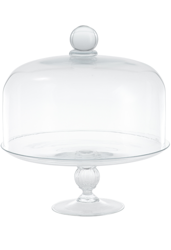 Cristallo Cake Stand and Dome